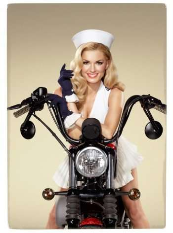 Marisa Miller for the boys and Harley-Davidson