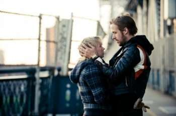 "Pictured: Michelle Williams (left) and Ryan Gosling (right) star as a couple whose marriage is in trouble in ""Blue Valentine."""