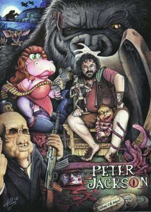 Peter Jackson artwork with his film characters courtesy Creations ArtisAllan (CC-BY-SA 3.0 Unported)