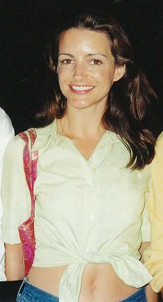 Photo of actress Kristin Davis, taken at the HBO party after the 1999 Emmy Awards. Photo: Alan Light.