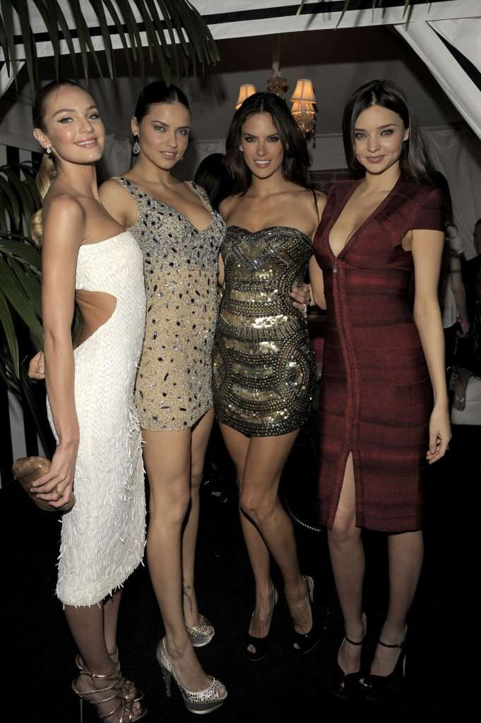 Victoria's Secret angels Candice Swanepoel, Adriana Lima, Alessandra Ambrosio and Miranda Kerr attend the 2011 Victoria's Secret SWIM Collection Pink Carpet Event ©VICTORIA'S SECRET