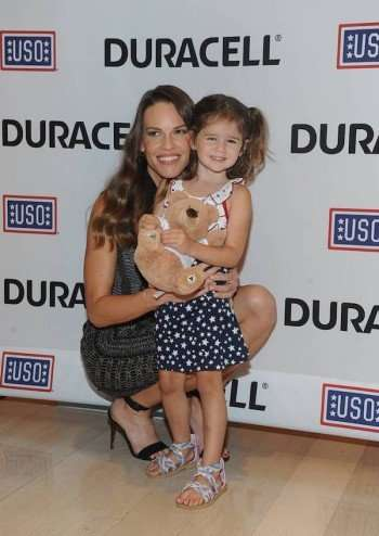 Duracell Squeeze Me Media Day with Hilary Swank