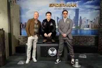 Michael Keaton, Tom Holland and Robert Downey Jr
