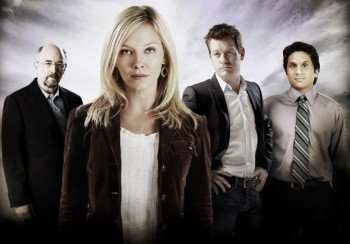 Psychologist Dr. Kate McGinn (Kelli Giddish, second from L), Price Whatley (Nicholas Bishop, third from L), Dr. Malachi Talmadge (Richard Schiff, L) and Dr. Rishi Karna (Ravi Patel, R) investigate the world of the unexplained as they work together to solve decades-old mysteries in the new drama PAST LIFE premiering Thursday, Feb. 11 (8:00-10:00 PM ET/PT) on FOX. ©2010 Fox Broadcasting Co. CR: Jeremy Cowart/FOX