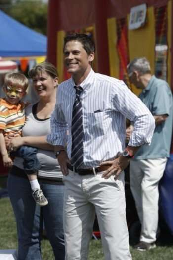 "PARKS AND RECREATION -- ""Freddy Spaghetti"" Episodic 224 -- Pictured: Rob Lowe as Chris Traeger -- Photo by: Byron Cohen/NBC"