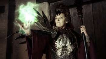 """SYFY ORIGINAL MOVIES -- """"Witchville"""" -- Pictured: Sarah Douglas as The Red Queen -- Photo by: Syfy"""
