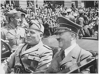 Hitler (right side, in case some have forgotten) and Mussolini