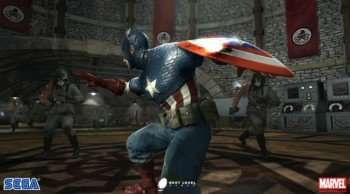 Captain American Ready To Vanquish His Foes!!