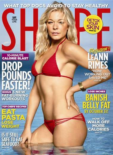Leann Rimes on Shape cover