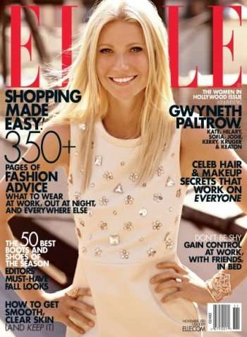 Gwyneth Paltrow from the November issue of Elle Magazine