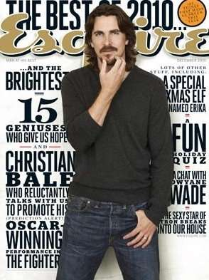 "Christain Bale does ""Esquire"" - December, that is (Hearst Corpration)"