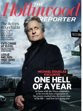 "Michale Douglas talks to ""The Hollywood Reporter"""
