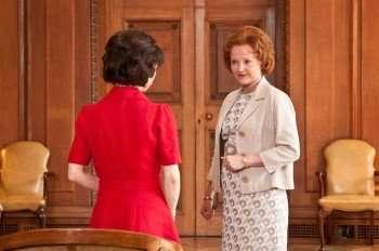"""Rita"" (Sally Hawkins) and ""Barbara Castle"" (Miranda Richardson) (Credit: Susie Allnutt/Sony Pictures Classics)"