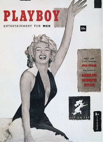 Marilyn Monroe on first cover of Playboy and object of new auction ©Playboy magazine