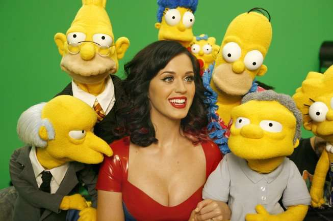 Katy Perry guest stars with THE SIMPSONS. Just one of the special episodes airing this month on the animated series. THE SIMPSONS ™ and © 2010 TTCFFC ALL RIGHTS RESERVED. CR: Nicole Wilder/OX © 2010 FOX BROADCASTING CR: Nicole Wilder/FOX