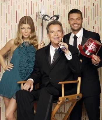 "Pictured: Fergie, Dick Clark, Ryan Seacrest - ""DICK CLARK'S PRIMETIME NEW YEAR'S ROCKIN' EVE WITH RYAN SEACREST 2011"" (ABC/CRAIG SJODIN)"