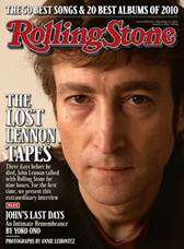 "John Lennon on and in ""Rolling Stone"" Photograph by Annie Leibovitz"