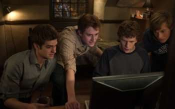 "Pictured left to right: Justin Timberlake, Joseph Mazzello, Jesse Eisenberg in ""The Social Network."""
