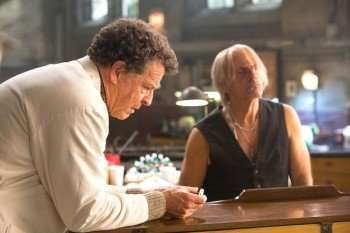 "Christoper Lloyd (R) guest-stars in ""The Firefly"" episode of FRINGE airing Friday, Jan. 21 (9:00-10:00 PM ET/PT) on FOX. Also pictured: John Noble (L). ©2011 Fox Broadcasting Co. CR: Liane Hentscher/FOX"