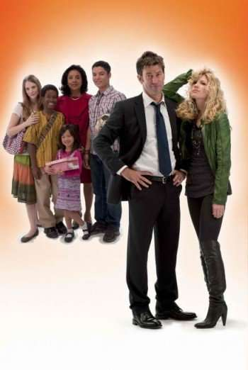 Sally (Brooke White, R) and Jason Danville (Joe Flanigan, second from R) embrace life's unexpected events when they inherit four diverse children after a friend's tragic death in the FOX Network Premiere of CHANGE OF PLANS airing Saturday, Jan. 8 (8:00-10:00 PM ET/PT) on FOX. Also Pictured L-R: Jayme Lynn Evans, Jakobe Dempsey, Clarissa Suwoko, Phylicia Rashad and Bobby Soto. ©2010 Fox Broadcasting Co. Cr: FOX