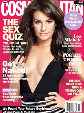 Lea Michele graces the cover of Cosmopolitan magazine
