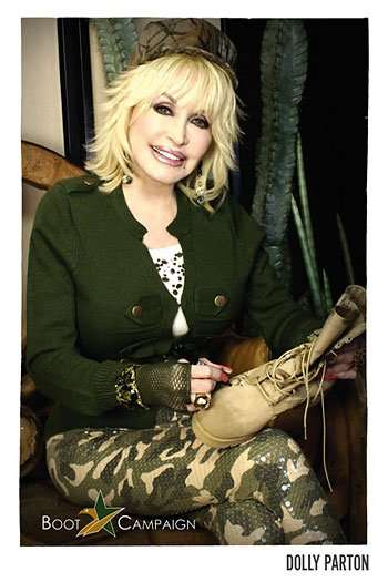 Dolly Parton Boot Campaign, where proceeds from the boot sales are donated to partner charities, including the Lone Survivor Foundation.