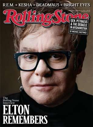 """""""Elton John"""" cover story in the curent issue of """"Rolling Stone"""" Photograph by Mark Seliger for RollingStone.com"""