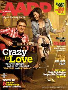 Vince Gill and Amy Grant in AARP magazine