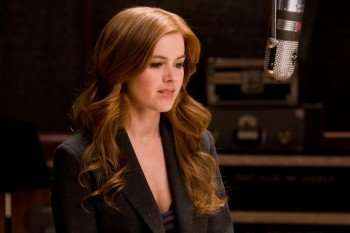 Isla Fisher doing voice work for 'Rango' (Paramount Pictures)