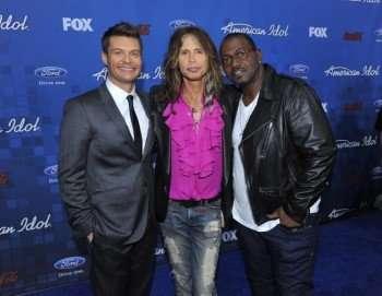 AMERICAN IDOL Host Ryan Seacrest, and Judges Steven Tyler and Randy Jackson. © 2011 FOX BROADCASTING. CR: Mark Davis/FOX