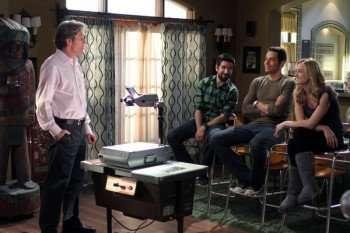 CHUCK -- Pictured: (l-r) Gary Cole as Jack Burton, Joshua Gomez as Morgan Grimes, Zachary Levi as Chuck Bartowski, Yvonne Strahovski as Sarah Walker -- Photo by: Mike Ansell/NBC