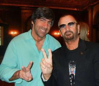 "Seth Swirsky (left) and Ringo Starr (right) at the Klaus Voormann tribute  event in Los Angeles February 2011. Klaus was interviewed for Swirsky's ""Beatles Stories."""