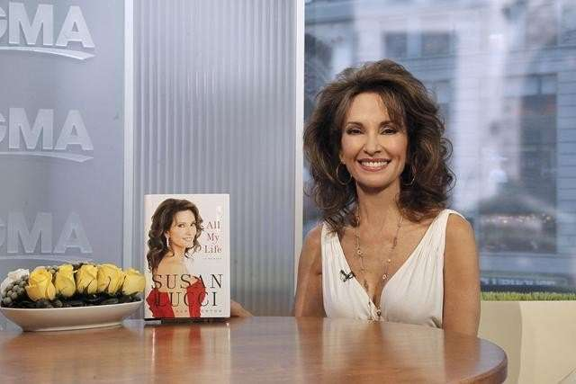 """All My Children"" legend Susan Lucci talks about her memoir, ""All My Life"" on ""Good Morning America,"" on the ABC Television Network. (ABC/Lou Rocco) SUSAN LUCCI"