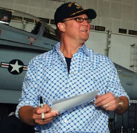 """Tracy Lawrence"" visiting fans on the USS Enterprise"