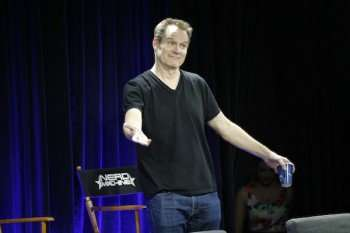 "COMIC-CON INTERNATIONAL: SAN DIEGO 2015 -- ""Heroes Reborn"" Nerd HQ Secret Panel -- Pictured: Jack Coleman, Sunday, July 12, 2015, from the New Children's Museum, San Diego, Calif. -- (Photo by: Joe Scarnici/NBC)"